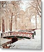 Winter's Bridge Metal Print