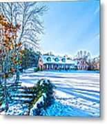 Winters Day Photo Art From The Fence Metal Print