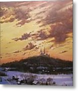 Winter's Eve At Holy Hill Metal Print