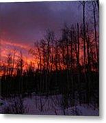 Winter's Fire Metal Print