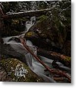 Winters Stream Flow Metal Print