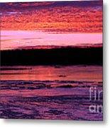 Winter's Sunset Metal Print