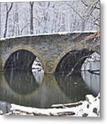 Wintertime At Bells Mill Road Metal Print by Bill Cannon