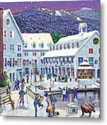 Wintertime At Waterville Valley New Hampshire Metal Print by Nancy Griswold