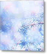 Wintertime Background Metal Print