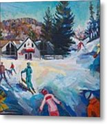 Wintertime Fun Metal Print