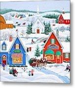 Wintertime In Sugarcreek Metal Print