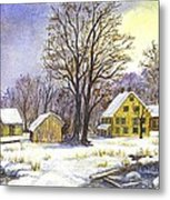 Wintertime In The Country Metal Print