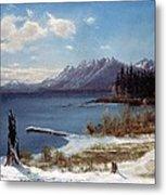 Wintertime Lake Tahoe In Winter The Sierra Nevada California Metal Print
