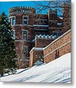 Wintery Lambert Castle Metal Print