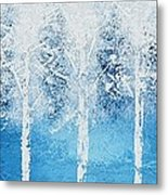Wintry Mix Metal Print by Linda Bailey