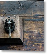 Wire Message Metal Print