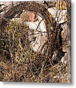 Wire Roll Metal Print
