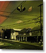 Wires In The Sky Metal Print