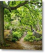 Wiscasset Sunken Garden Metal Print