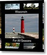Wisconsin For All Seasons Metal Print
