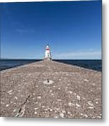 Wisconsin Point Lighthouse 6 B Metal Print
