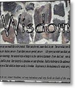 Wisdom In Stone Inspirational Metal Print