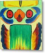 Wise Bird Totem Metal Print