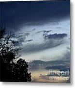 Wispy Clouds One December's Eve Metal Print