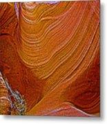 Wispy Relic In Lower Antelope Canyon In Lake Powell Navajo Tribal Park-arizona   Metal Print