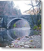 Wissahickon Creek And Valley Green Bridge Metal Print