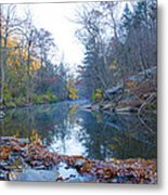 Wissahickon Creek - Fall In Philadelphia Metal Print