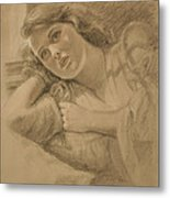 Wistful - Drawing Metal Print