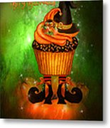 Witch Cupcake 4  Metal Print