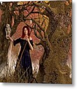 Witch Of The Autumn Forest  Metal Print by Daniel Eskridge