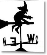 Witch On A Broomstick Metal Print