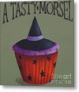 Witches Hat Tasty Morsel Cupcake Metal Print