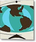 Witco World Map Metal Print