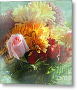 With Love Flower Bouquet Metal Print