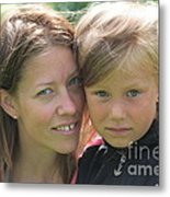 With Mother - Sweden. Metal Print