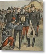 With The Army Manoeuvres The Duke Metal Print