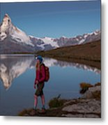 With The Matterhorn In The Background Metal Print