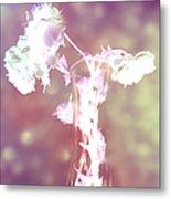 Withering Away - Magenta Sparkle Metal Print