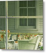 Within The Screened Porch Metal Print