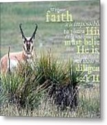 Without Faith Metal Print