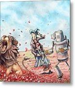 Wizard Of Oz - Poppy Field Metal Print