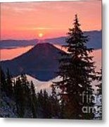 Wizzard Island Sunrise 4 Metal Print
