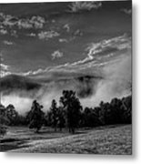 Wnc Morning In Black And White Metal Print