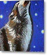 Wolf Howl Metal Print