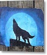 Wolf Howl2 Metal Print