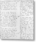 Wolfe Journal, 1759 Metal Print