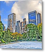 Wollman Rink In Central Park Metal Print