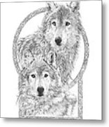 Canis Lupus II - Wolves - Mates For Life  Metal Print