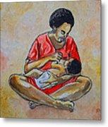 Woman And Child Metal Print