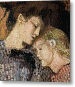 Woman And Child Metal Print